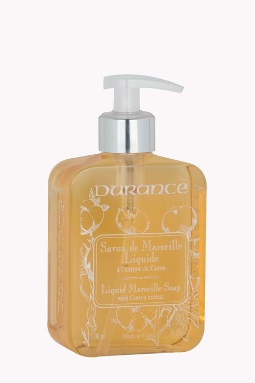 Durance Marseille Liquid Marseille Soap, Cotton Extract (300 ml)