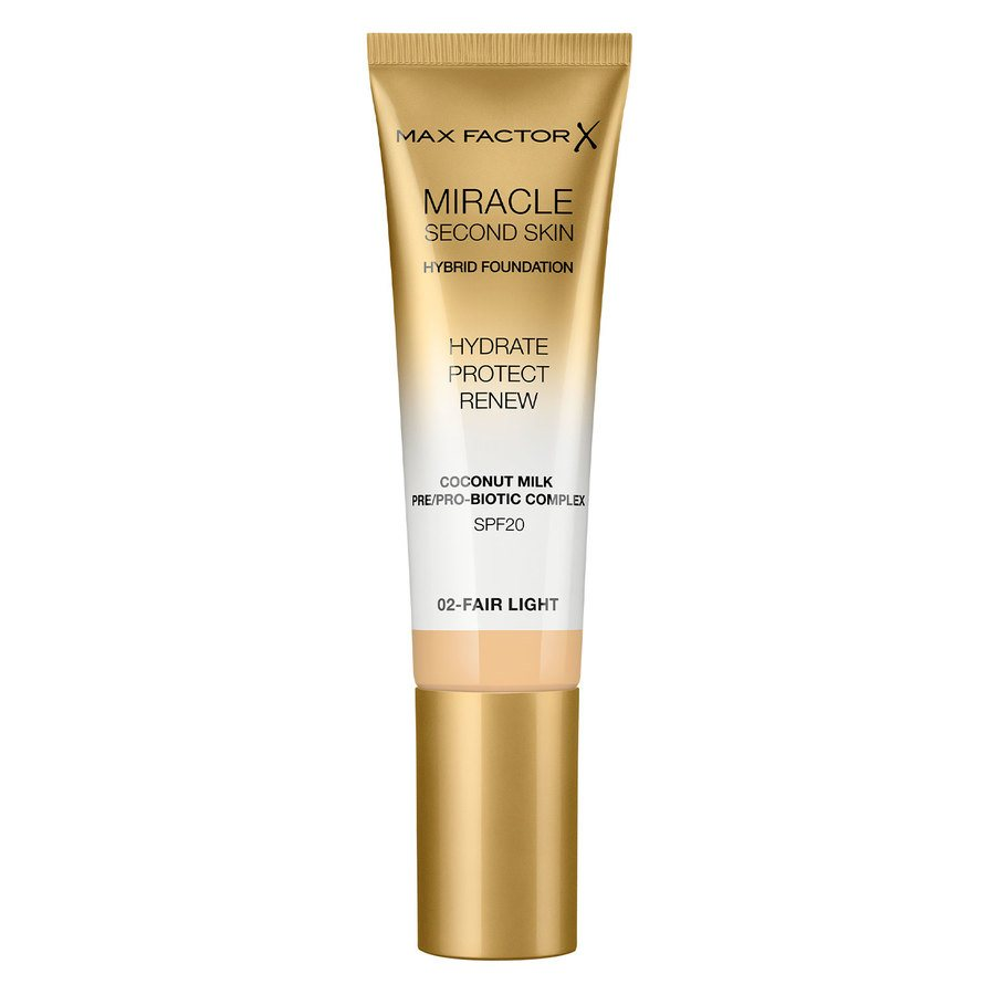 Max Factor Miracle Second Skin Foundation, #002 Fair Light (33 ml)