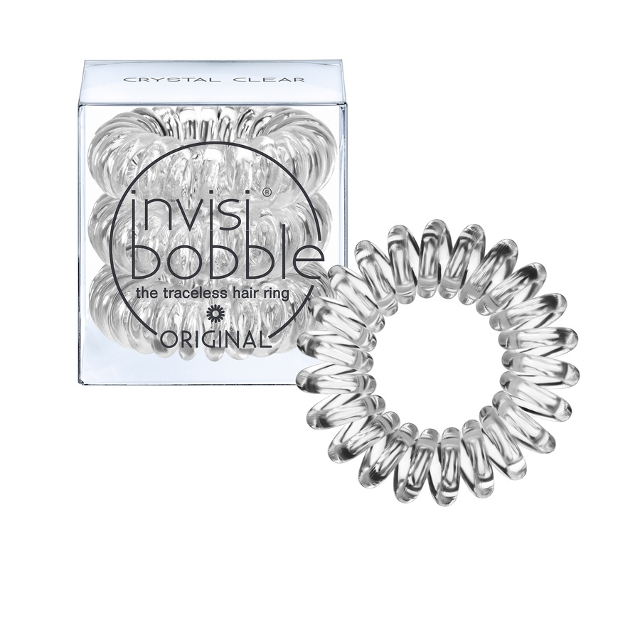 Invisibobble 3 Traceless Hair Rings, Crystal Clear