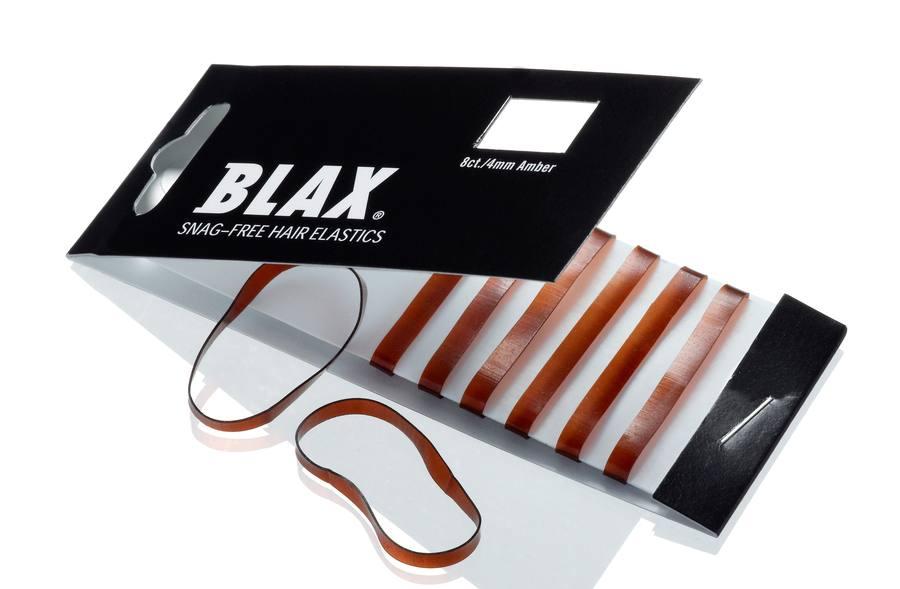Blax Snag-Free Hair Elastics 4 mm (8 Stk.), Amber/Brown