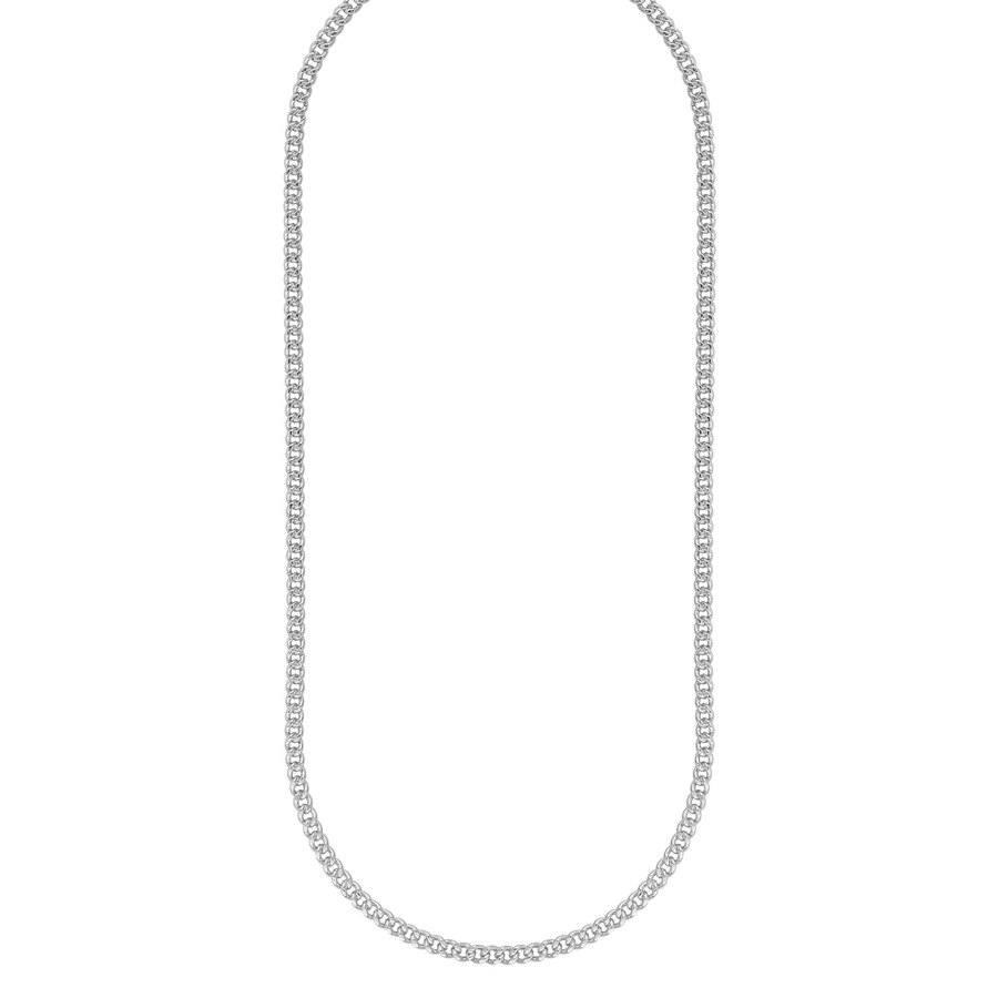 Snö Of Sweden Chase Brad Small Necklace, 50 Plain Silver