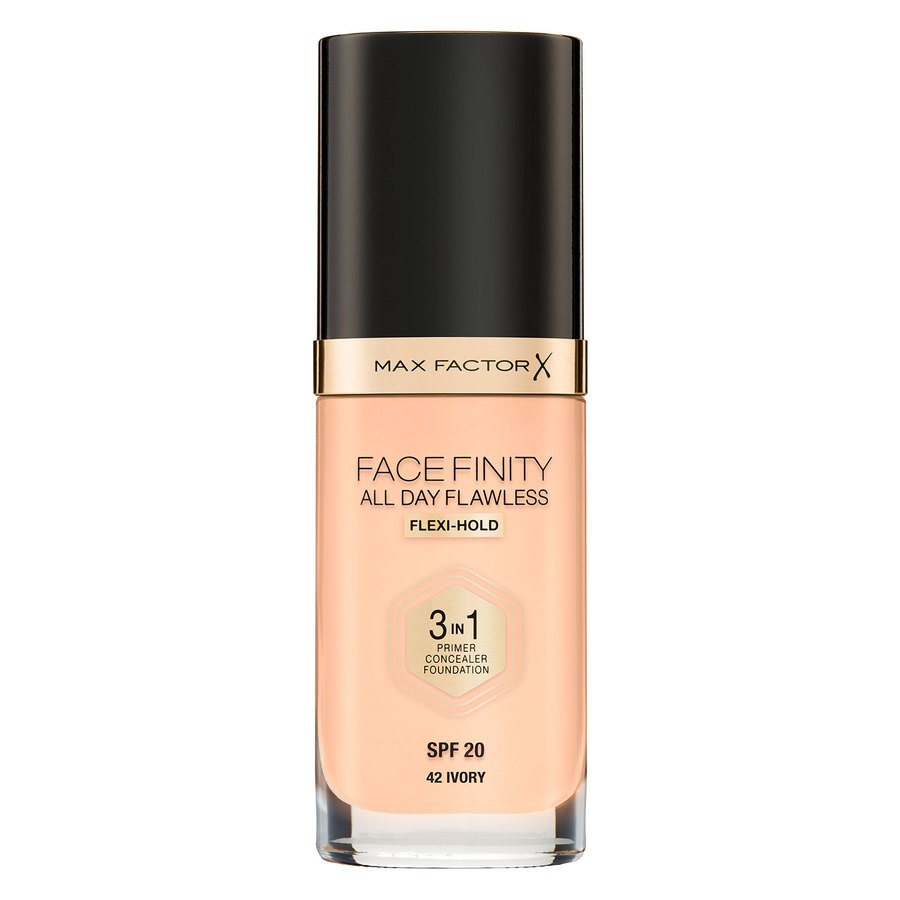 Max Factor Facefinity All Day Flawless 3-In-1 Foundation, #42 Ivory (30 ml)