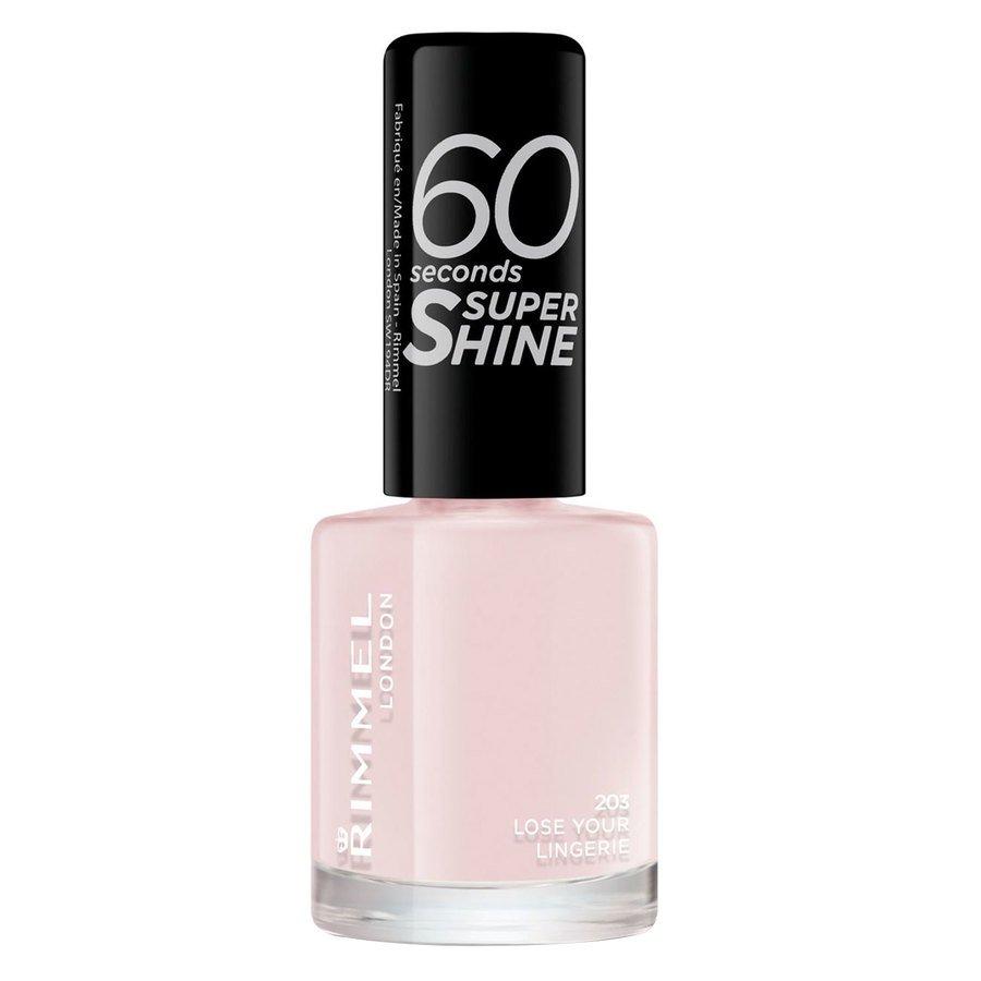 Rimmel London 60 Seconds Super Shine Nail Polish, # 203 Lose Your Lingerie (8 ml)